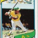 Retro Baseball Card, Ricky Henderson 1980 Topps #482 RC