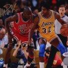 Magic Johnson Signed Photo with Michael Jordan, 8x10