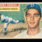 Retro Baseball Card, Sandy Koufax 1956 Topps #79