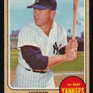 Retro Baseball Card, Mickey Mantle 1968 Topps #280