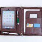 Coffee Leather mini Zipper Around Wallet for Carrying mini Apple iPad mini