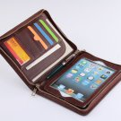 Coffee iPad mini Full Grain Leather Purse Portfolio Case for mini Apple