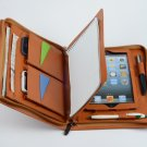 Brown iPad mini Leather Carrying Portfolio Case with Paper Pad for iPad mini Business Carrying