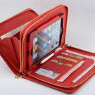 Red Apple iPad mini 4 Business Carrying Zipper Portfolio Case with Purse Handle