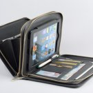 Zipper Leather Purse with iPad mini Business Carrying with Handle Wallet Bag for Apple iPad mini