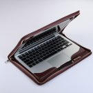 Leather Cover Macbook Pro 13 inch Leather Carrying Business Portfolio Case Zipper for Mac Pro 13