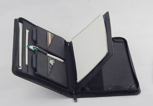 Leather iPad Air Air 2 Business Case with Paper Pad for Apple iPad Air carrying Briefcase