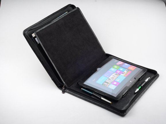 Microsoft Surface Pro 3 Leather Case Business Portfolio with Writing Paper Holder