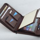 Coffee New Surface Pro Leather Portfolio with Paper Notepad for Surface Pro Business Carrying