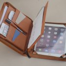 iPad Air,iPad Air 2 Genuine Leather Portfolio Case with Notepad,iPad Air Carrying Zipper Briefcase