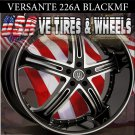 VERSANTE  WHEELS 226 26X10 5.120 BLK /MF/ST FOR CHEVY CAPRICE BUICK LA SABRE CUTLASS