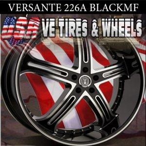 VERSANTE  WHEELS 226 26X10 5.120 BLK /MF/ST FOR CHEVY CAPRICE BUICK LA SABRE CUTLASS