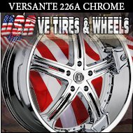 CHROME RIMS VERSANTE 226 22X9.5 5.115 ET+15 CHR DODGE CHARGER