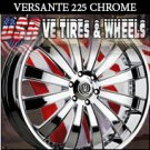 CHROME WHEELS 225 26X10 6.139.7 ET+25 CHROME  GMC YUKON CHEVY TAHOE CADILLAC ESCALADE