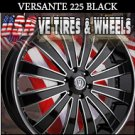 VERSANTE 225 22X9.5 5.115 ET+15 BLK /MF/ ST DODGE CHARGER  CHRYSLER 300C