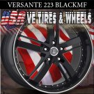 BLACK RIMS 223 20X8.5 5.115 BLK SILVER TIP  KIA OPTIMA LEXUS GS300