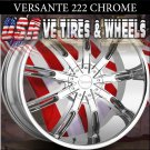 CHROME RIMS 222 22X9.5 5.115/127 ET+30 FORD EXPLORER 4W/D  JEEP CHEROKEE