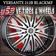 BLACK RIMS 212 24X9.5 6.135 ET+30 BLK M/F S/T FORD F150  FORD EXPEDTION  LINCOLN NAVIGATOR