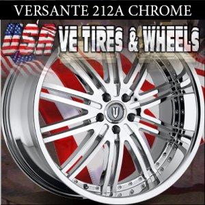 VERSANTE 212 22X9.5 5.115 ET+15 CHROME DODGE CHARGER CHRYSLER 300