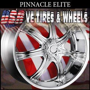 PINNACLE ELITE 22X9.5 BLANK ET+15 CHROME WHEELS  WE COULD CUSTOM DRILL MOST BOLT PATTERNS