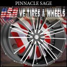 PINNACLE SAGE 20X8.5 5.100/114.3 ET+40 BLK MF VOLKSWAGON JETTA  CHEVY PT CRUISER