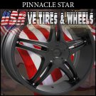 PINNACLE STAR 18X7.5 5.108/114.3 ET+40 FLT BLK  FORD TAURUS  CHEVY IMPALA