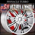 CHROME WHEEL PINNACLE TURBO 18X7.5 5.114.3/120 ET+40 CHEVY IMPALA  CHEVY BLAZZER4/WD