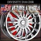 DIVINITY D18 24X10 5.115/120 ET+20 CHR  CHRYSLER 300C  DODGE CHARGER  CAPRICE