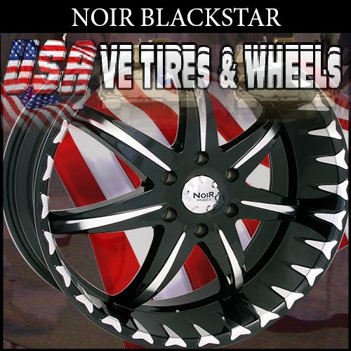 NOIR RIMS BLACKSTAR 22X9.5 5.120 ET+40 BLK MF ST LAND