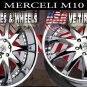 NEW CHROME MERCELI WHEELS M-10 22X9.5  5X130 ET+35   AUDI Q7