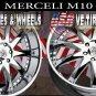 CHROME WHEELS MERCELI M10 24X10 6.139.7 ET+30 CHR  CHEVY TAHOE  CADILLAC ESCALADE