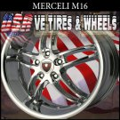 CHROME WHEELS MERCELI M16-22X8.5  5.120 ET+35  CHEVY CAMARO   BUICK LACROSSE