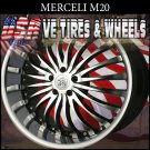 MERCELI M20  22X9.5  5.120 ET+15 BMF SSL  CHEVY CAMARO   BUICK REGAL