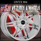 ONYX904-28X9.5 BLANK ET+15 CHROME CUSTOM BOLT PATTERNS