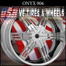 ONYX906 24X9 BLANK ET+15 CHROME CUSTOM DRILL MOST BOLT PATTERN