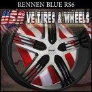 RENNEN RS6 24X9 BLANK ET+15 BLACK MACHINE FINISH  CUSTOM DRILLING
