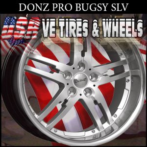 DONZ BUGSY 20X8.5 ET+20  20X10 ET+23 SILVER BLANKS DRILL FOR MOST VEHICLES
