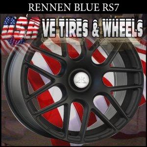 RENNEN 2-RS7 20X8.5 BLANK ET+25 FL BLK 2-RS7 20X9.5 BLANK ET+25 FL BLK  WILL DRILL MOST VEHICLES