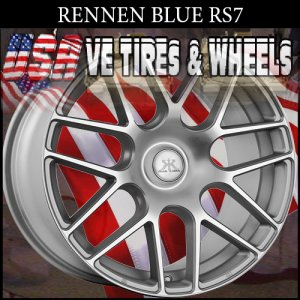 RENNEN 2-RS7 20X8.5 BLANK ET+25 SILVER  2-RS7 20X9.5 BLANK ET+25 SILVER  WILL DRILL MOST VEHICLES