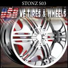 STONE S3 24X9 5.120/127 ET+15 CHROME  CHEVY CAPRICE BUICK REGAL