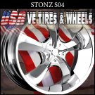 STONE S4 26X9.5 5.120/127 ET+15 CHROME CHEVY CAPRICE BUICK REGAL