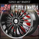 GINO487 22X9.5 5.115/120 ET+18 BLK MF ST  CHRYSLER 300C  BUICK REGAL
