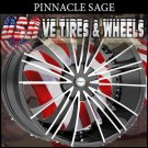 "PINNACLE SAGE   20"" 5X114.3/5-100 BLACK MACHINE  NISSAN MAXIMA CHEVY CAVALIER"