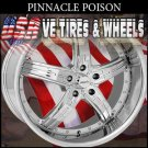 "PINNACLE POISON  20"" 5X114.3 CHROME WHEELS NISSAN MAXIMA KIA OPTIMA LEXUS SC"