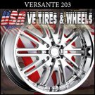 "VERSANTE 203  20""CHROME WHEELS & TIRES  CADILLAC CTS NISSAN MAXIMA  KIA OPTIMA"