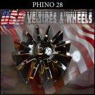 PHINO28  CHROME CAP               PART#CSPW28-1P/SJ1001-19   VELOCITY U2  TYFUN