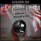 GOLDEN 205  CHROME CAP    WHEELS         #mc65n101/revvo