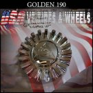 GOLDEN 190  CHROME CAP    WHEELS         #revvo/mc190n101