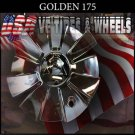 GOLDEN 175  CHROME CAP    WHEELS         #c17501