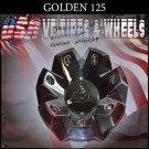 GOLDEN 125  CHROME CAP    WHEELS         #C12501-CAP/GW125-2410-CAP